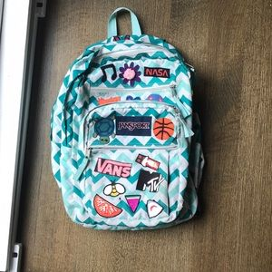 jansport backpack with patches
